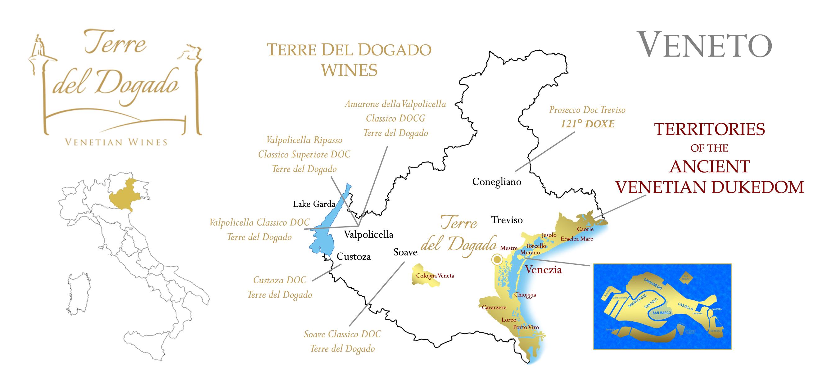 Cartina Veneto Mare.The Territory Of Our Wines Terre Del Dogado